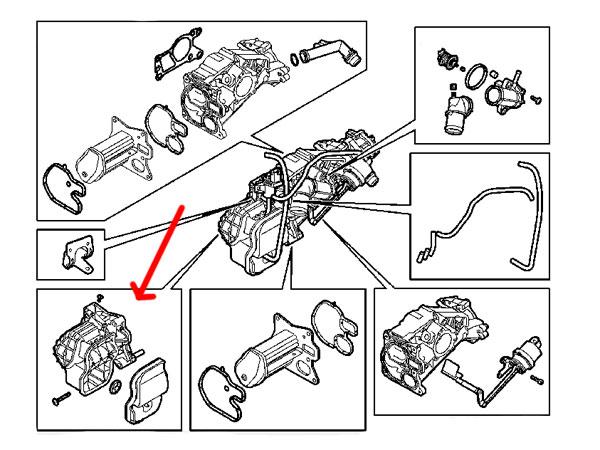 9 3 Sports 1 9 Ttid Z19dtr 08 12 Egr Module Cooler Housing Repair Kit